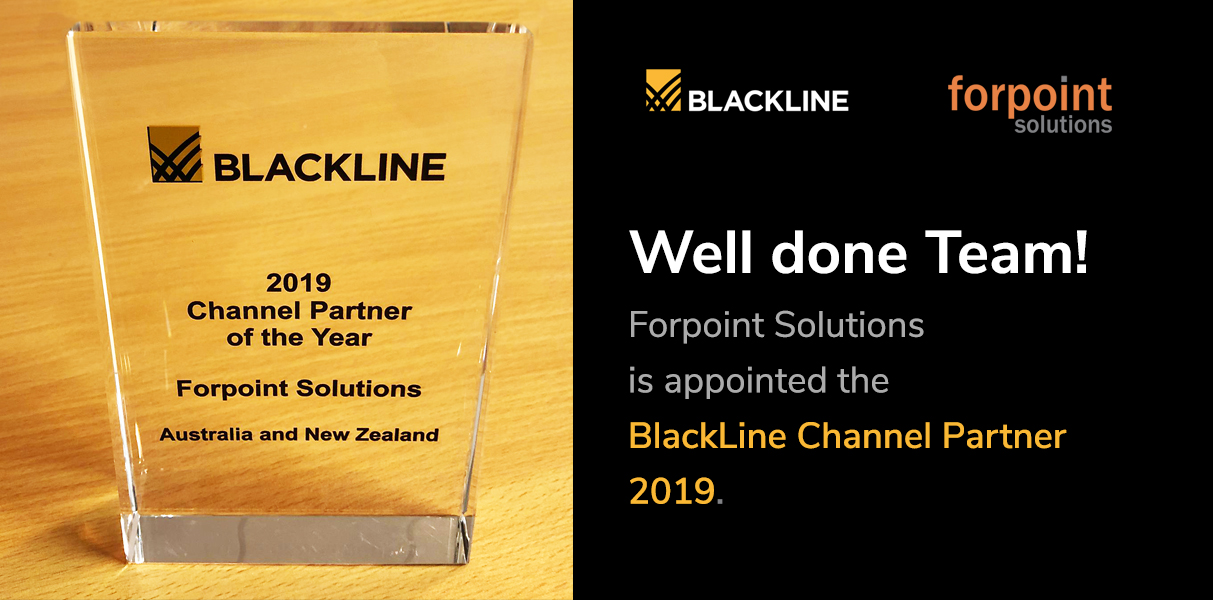 We are the BlackLine Channel Partner of 2019